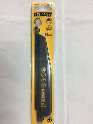 DEWALT RECIP BLADES WOOD FAST CUT 5 X blades DT2362 152mm HCS  USA