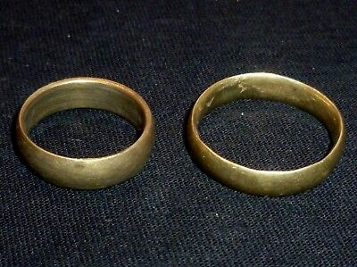 BYZANTINE Bronze Wedding RINGS Men / Woman - Circa 1500 AD          /433