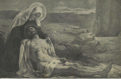 Religious Postcard - Lady of Sorrows, Jesus, Crucification