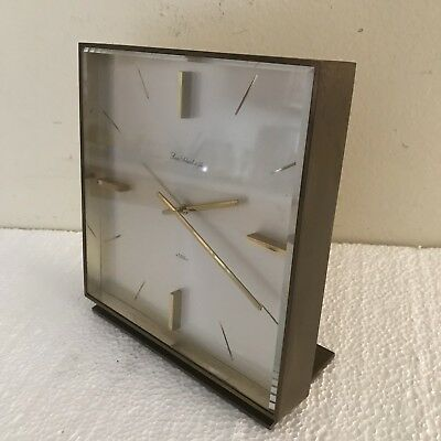 Fine Vintage Swiss Louis Schwab Et Fils 8 Day Mid Century Table Clock Art Deco