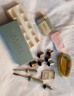 Vintage Sewing Thimbles and Misc. lot of 14 pc Kenmore