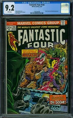 Fantastic Four 144 CGC 9.2 - White Pages