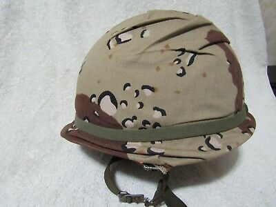 US Army Steel Helmet With Chocolate Chip Cover