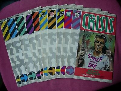 2000AD Presents CRISIS x10 issue Job Lot 1-10 complete run 1988-1989 FN/VFN