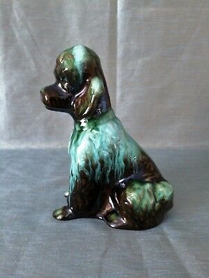 Vintage Blue Mountain Pottery ~ Sitting Poodle Dog