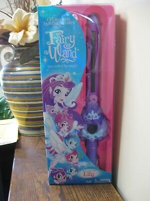 New! Of Dragons, Fairies and Wizards - Fairy Lily Hand Held Wand, Purple