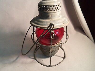 Vintage At&sf Railroad Lantern-Red Globe-Both Marked
