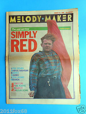 magazine melody maker 1985 simply red the cure neil young frank confessions ub40