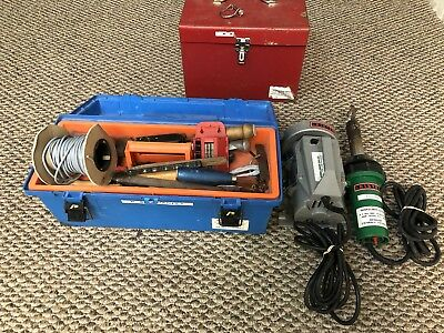 Leister Power Groover Floor Grooving Welding Channel Machine and Heat Gun Extras