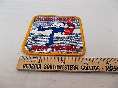 "West Virginia "" Almost Heaven"" 3""x3"" Souvenir Sew On Patch"