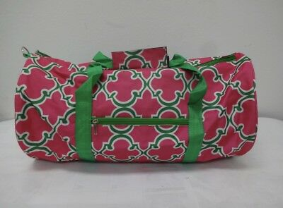 Pink And Green Duffle Bag    Great Gift For An AKA