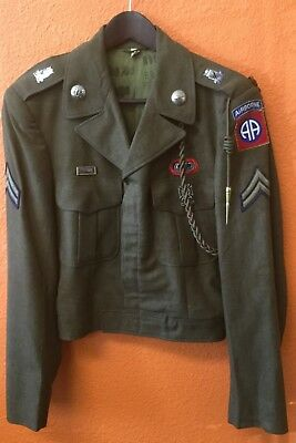 Post-WWII 82nd Airborne Jacket, Jump Wings & Oval, Laundry Marks, 36L