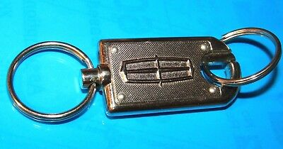 Vintage Lincoln Automobile Double Ended Metal Key Ring/chain-Return Postage Back