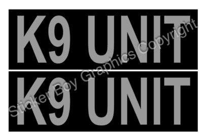 K9 UNIT Magnet Security K9 Unit Dog Handler SIA Magnetic Car Door Magnets x 2