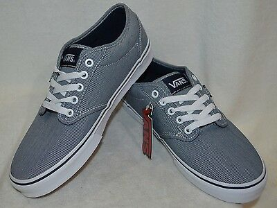 85d702081a Vans Men s Atwood Text Mix Navy   White Skate Shoes - Size 8.5   12 NWB