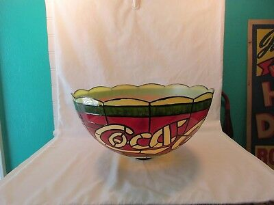 Coca Cola Coke Plastic Stained Glass Look Floor Lamp Shade