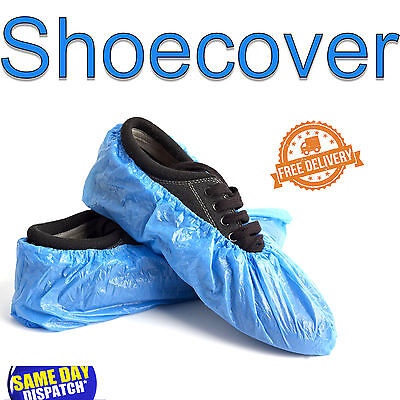 Disposable Plastic Blue Anti Slip Shoe Covers Cleaning Overshoes Protective
