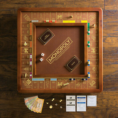 New Monopoly Luxury Edition with Wood Cabinet and Game Board Premium Collectible