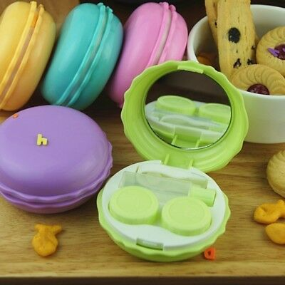 1* Mini Contact Eye Pupil Lens Case Travel Kit Cool Portable Mirror Container