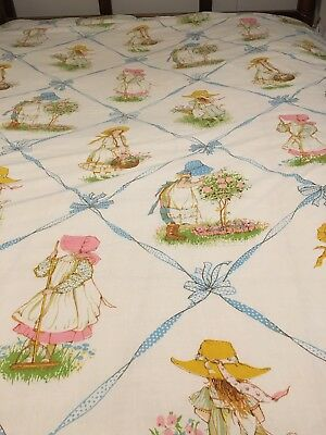 Vintage Holly Hobby Twin Flat Sheet