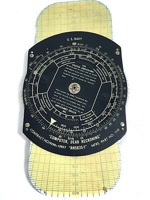 Wwii Us Navy Navigation Tool An 5835-1 Dead Reckoning Computer #b12