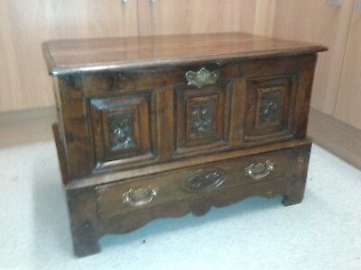 antique welsh oak coffer bach chest drawer small mule chest
