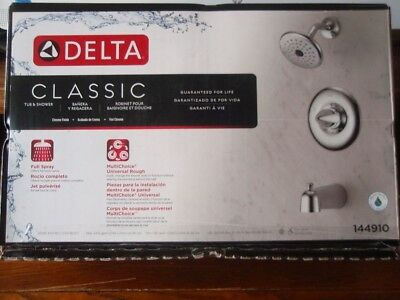 Delta Classic Tub Shower Faucet 144910 Chrome Finish With Valve
