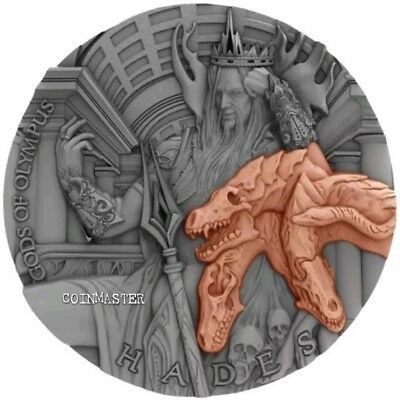 Niue 2018 $5 HADES, GODS OF OLYMPUS 2 Oz Silver Coin.
