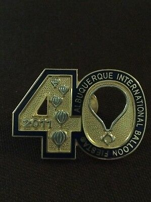 2011 Number 40 AIBF Albuquerque Balloon Fiesta Balloon Pin Dark Blue
