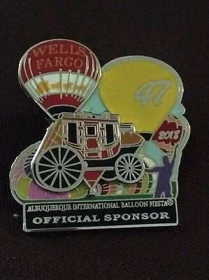 2018 Wells Fargo Official AIBF Sponsor Albuquerque Balloon Fiesta Pin
