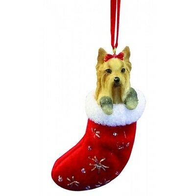 Yorkshire Terrier Yorkie Santa's Little Pals Dog Christmas Ornament