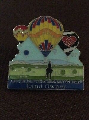 2018  Official AIBF Land Owner Albuquerque Balloon Fiesta Pin