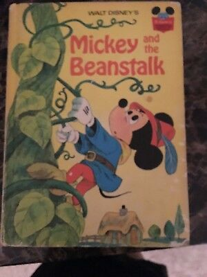 Walt Disney's MICKEY AND THE BEANSTALK Book (Hardback; 1973)