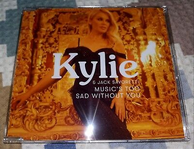 CD Single Kylie Minogue & Jack Savorett - Music's Too Sad Without You - Golden