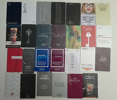 28 Downtown / Uptown Of Various New York City Hotel Key Card