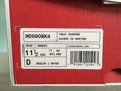 official photos 01728 5f6e7 MO990BK4 MEN'S NEW BALANCE MADE IN USA 990v4 MID BOOT SIZE 11.5 WIDTH D NIB