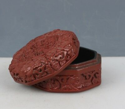 Chinese Exquisite Handmade flower lacquerware box