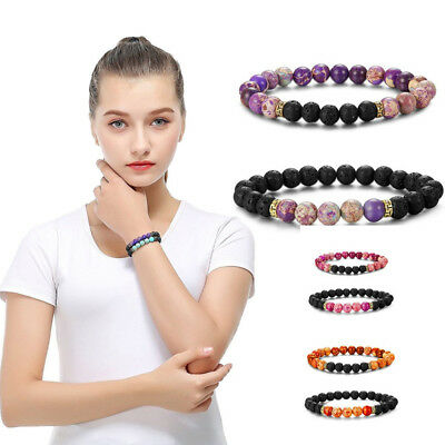 Chakra Healing Balance Beaded Bracelet Natural Stone Yoga Reiki Prayer
