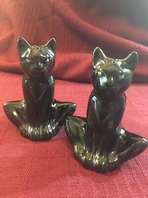 BLACK CAT Salt & Pepper Shakers...appear VINTAGE...UNIQUE!!