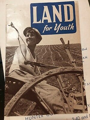 "Vintage 1930's Jewish National Fund JNF pamphlet "" Land For Youth"""