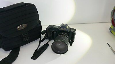 Vintage Canon T70 with Hanimex MC Zoom Lens and Kodak Camera Bag