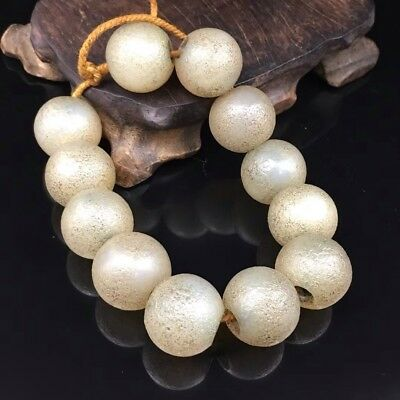 Beautiful Old Silk Package Slurry Agate Round Bead Elastic Bracelet