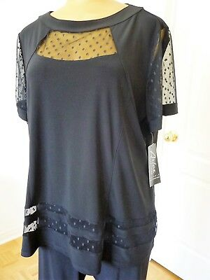 NWT, Artex Fashions 2 pcs set: tunic and cropped pant in black size 3X/ 24W