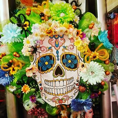 24 Inch Day Of The Dead Wreath