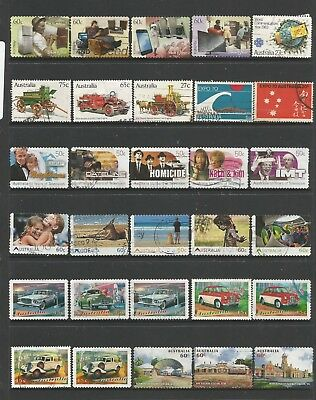 56 Australian stamps used including self adhesive