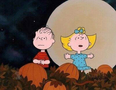 """""""HALLOWEEN NIGHT""""  Animation CEL - It's the Great Pumpkin Charlie Brown - Signed"""