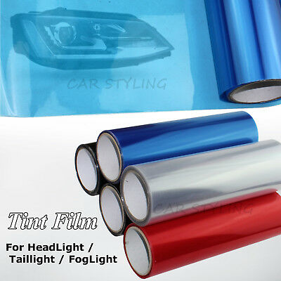 "Car 12""x48"" Blue Smoke Headlight Taillight Fog Light Tint Film Vinyl Sheet New"