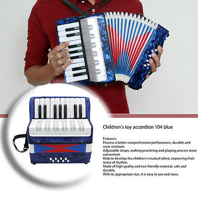1PC 17 Key 8 Bass Small Accordion Educational Musical Instrument for Children QZ