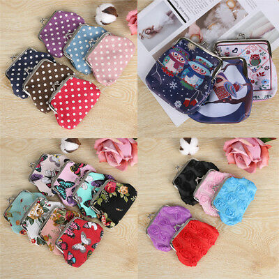 Women Hasp  Clutch   Retro Change Bag Small Wallet Coin Purse Card Holder