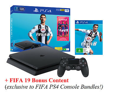 FIFA 19 Edition 1TB Playstation 4 Game Console PS4 Video Game System Game Bundle